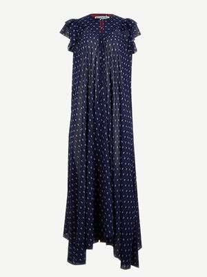 BALENCIAGA - Patchwork printed chiffon midi dress