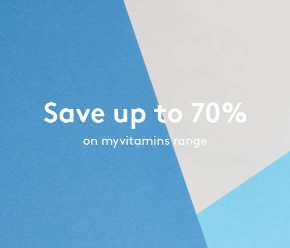 Up To 70% Off The myvitamins Range!