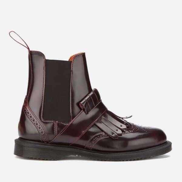 Dr. Martens Women's Tina Arcadia Leather Kiltie Chelsea Boots