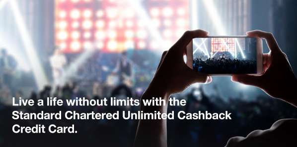 Live a life without limits with the Standard Chartered Unlimited Cashback Credit Card.