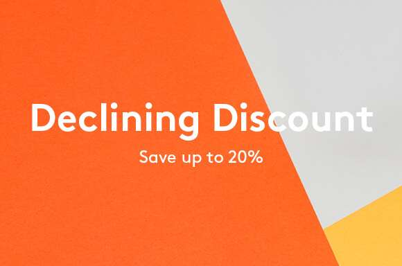 Declining Discount - Save an EXTRA 25%!