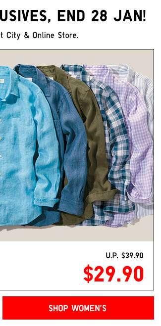 Shop Women's Premium Linen Shirt