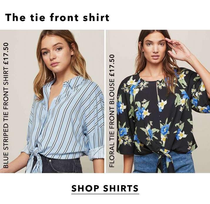 The Tie Front Shirt - Shop Shirts