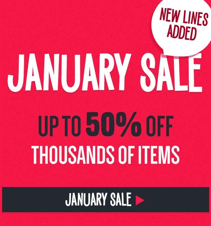 New Lines Added! Up to 50% off thousands of items