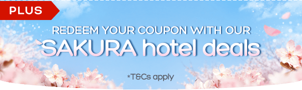 Witness the beauty of Sakura. Visit Japan this season. Book before rooms run out!