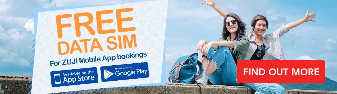 Get a free SIM card when you book flight or hotel through ZUJI app.