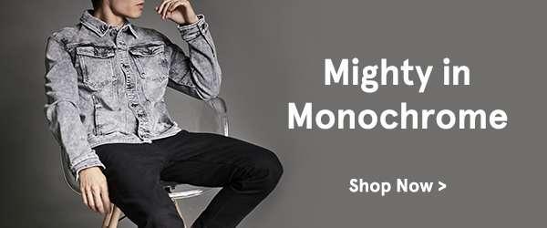 Monochrome. shop now.