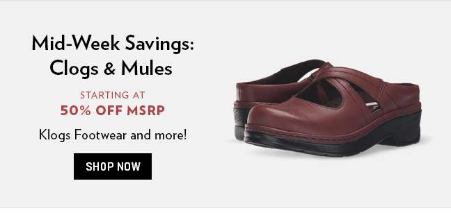Shop Clogs and Mules