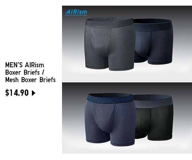 Shop Men's AIRism Boxer Briefs / Mesh Boxer Briefs at $14.90