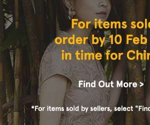 Order by 10 Feb to receive your itmems in time for chinese new year. Find out more