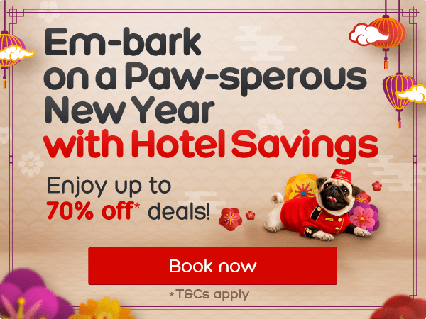 Em-bark on a Paw-sperous New Year with Hotel Savings Enjoy up to 70% off deals!