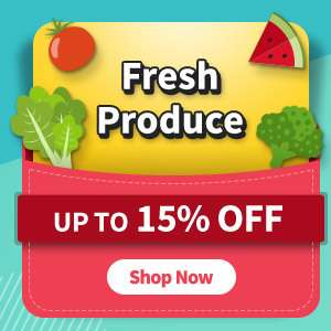 Fresh produce at up to 15% OFF!