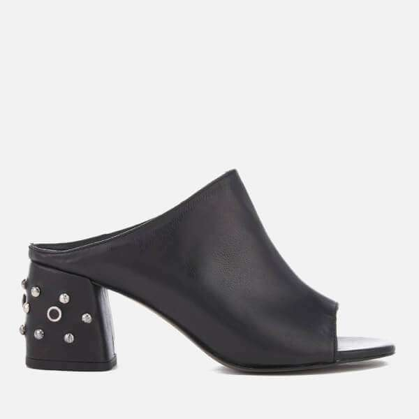 Rebecca Minkoff Women's Selene Studs Leather Heeled Mules