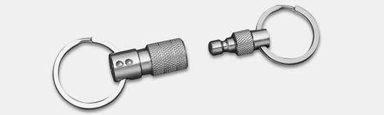 Q-Ring V5 Titanium Quick-Release Keychain