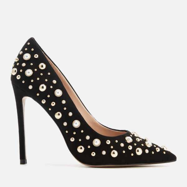 Carvela Women's Alabaster Suede Embellished Court Shoes