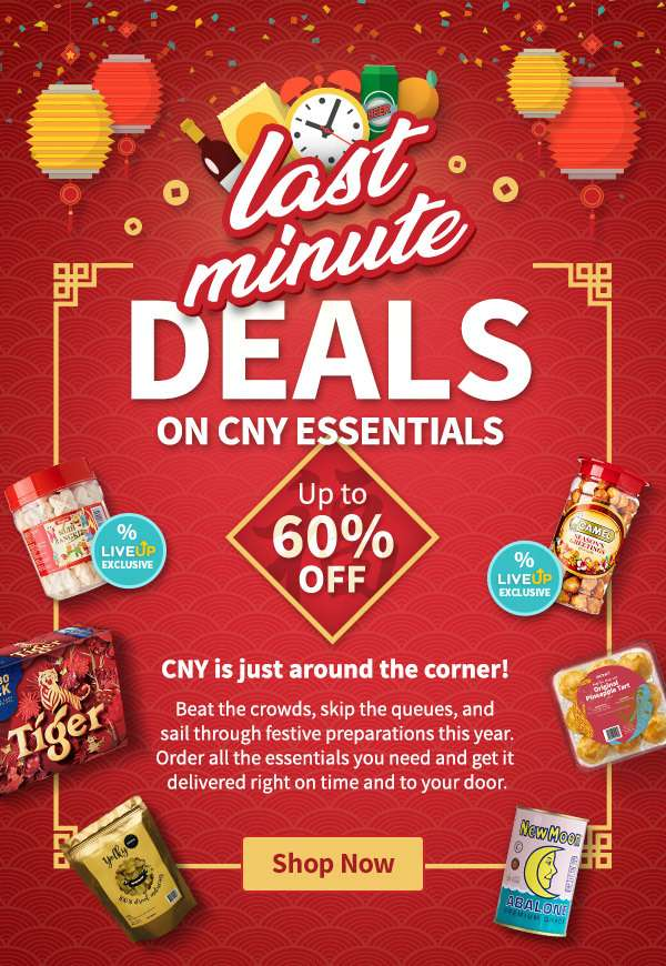 The CNY SALE is on! Shop for your CNY essentials at greater deals and get it delivered to your door.
