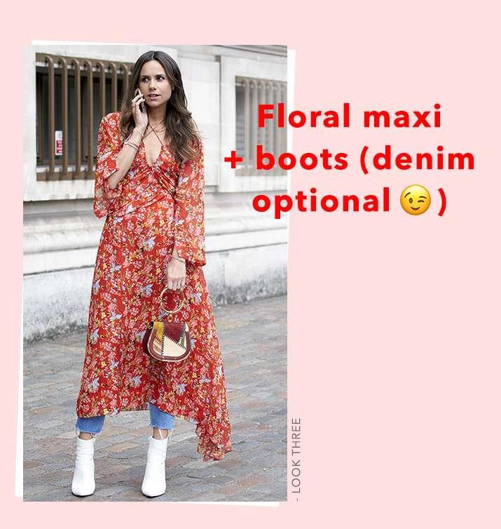 Floral Maxi + Boots(Denim Optioal)