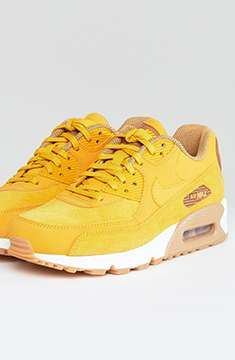 Nike Air Max 90 Mustard Suede Trainers
