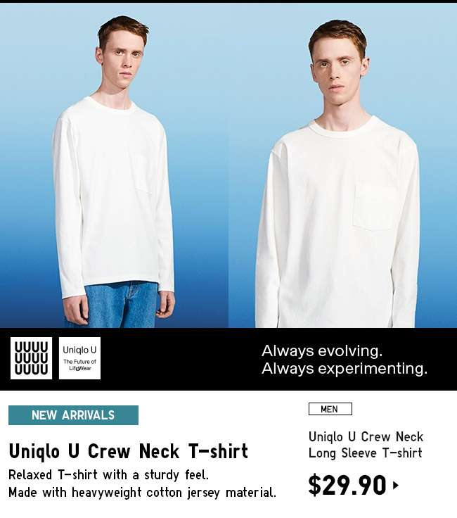 Shop Men's Uniqlo U Long Sleeve T-shirt