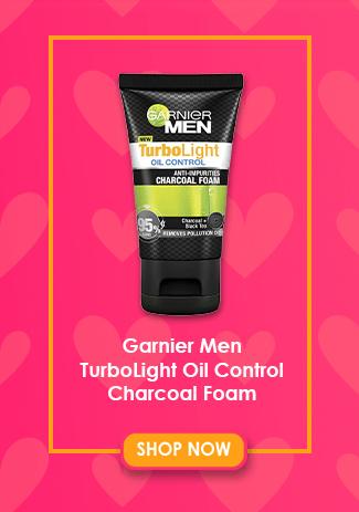 Garnier Men TurboLight Oil Control Charcoal Foam