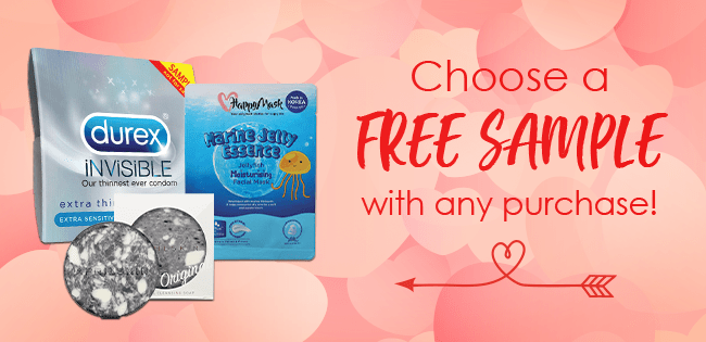 Choose a FREE sample with any purchase!