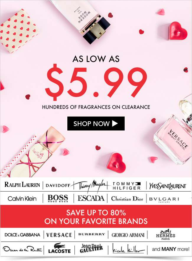 As low as $5.99: Hundreds of fragrances on clearance