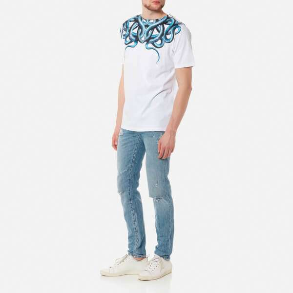 Marcelo Burlon Men's Snake T-Shirt - White Light Blue