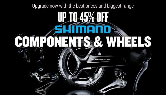 Up to 45% off Shimano Components & Wheels