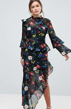 Miss Selfridge Floral Print Dress