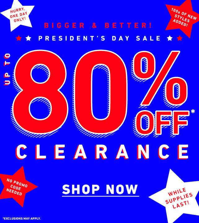 Up to 80% off clearance - Shop Now