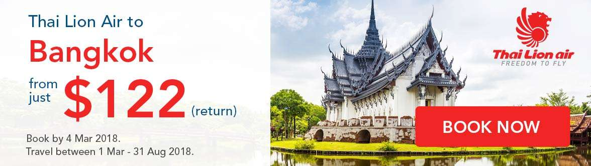 Special Thai Lion Air offer to Bangkok!