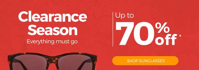 Welcome a new season with new clearance deals on all eyewear!