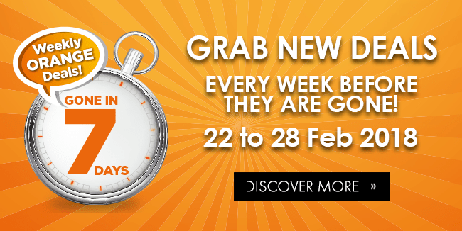 Grab NEW deals every week: 22 - 28 Feb!