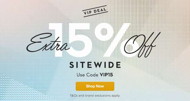 Extra 15% Off Sitewide