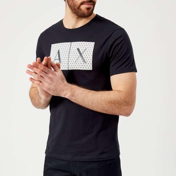 Armani Exchange Men's Ax Logo T-Shirt - Navy: Image 01