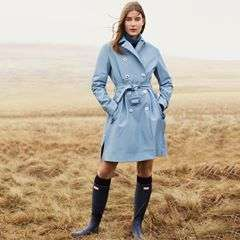 The new Refined collection. Our bestselling Refined boot styled with the new, waterproof Refined Trench. #HunterOriginal