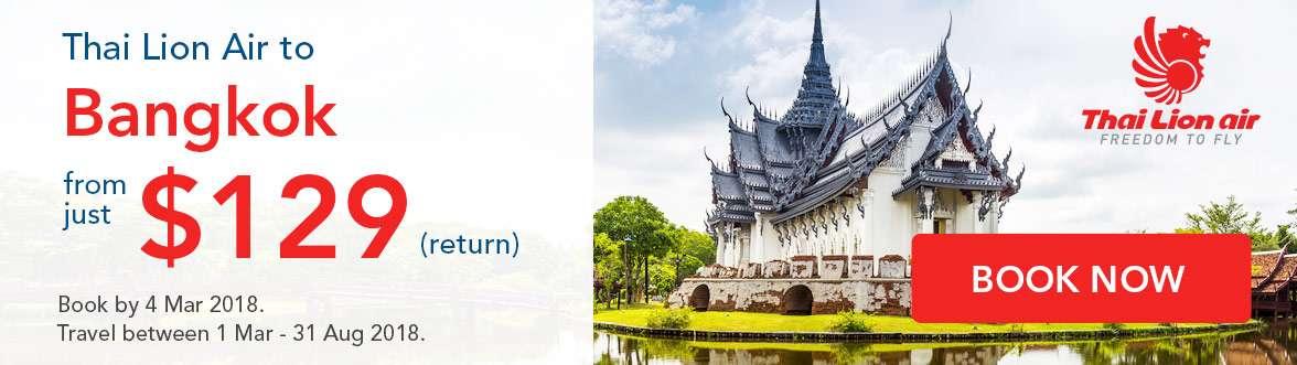 Special Thai Lion Air offer to Bangkok!