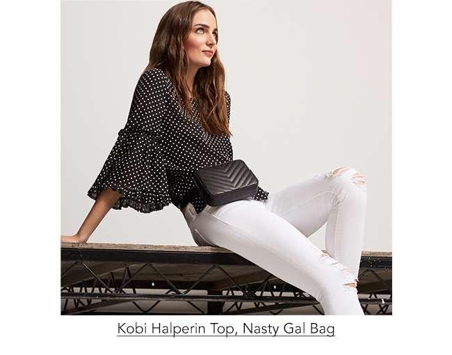 KOBI HALPERIN TOP, NASTY GAL BAG