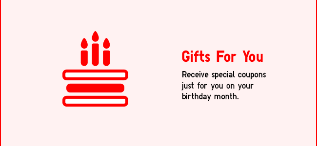 Gifts for you on your birthday month