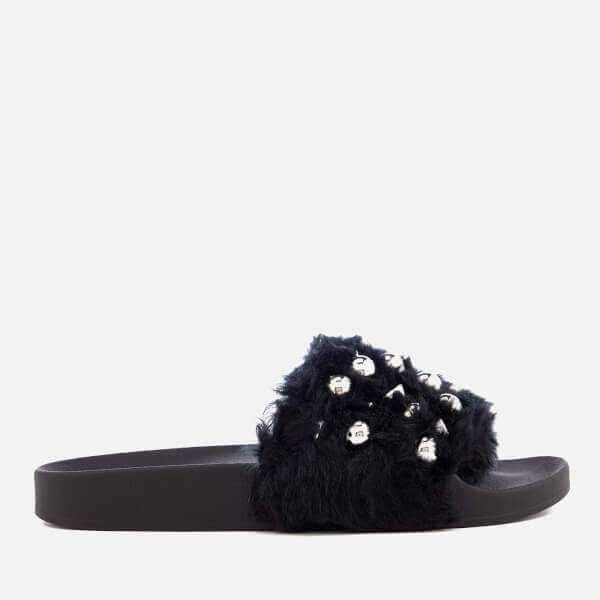 Yeah Faux Fur Slide Sandals