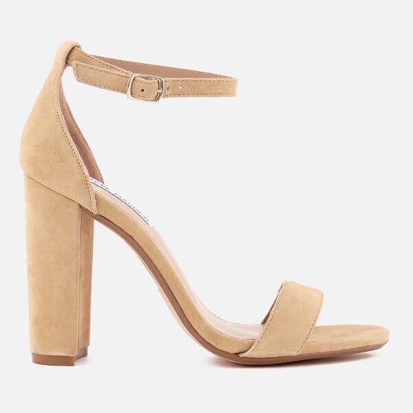 Suede Barely There Heels
