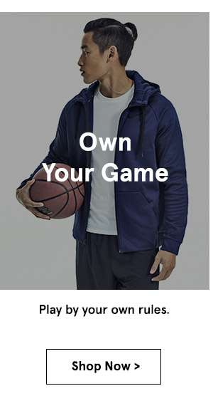 Own your game. shop now.