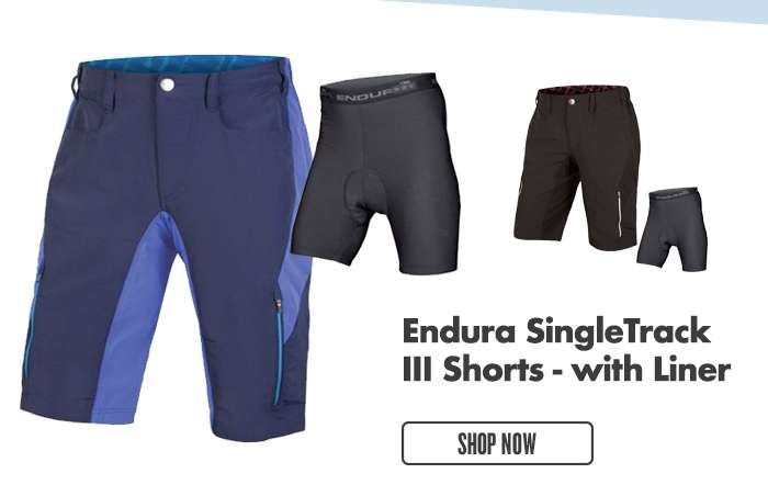 Endura SingleTrack III Shorts- with Liner