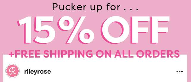 15% OFF + Free Shipping on all orders