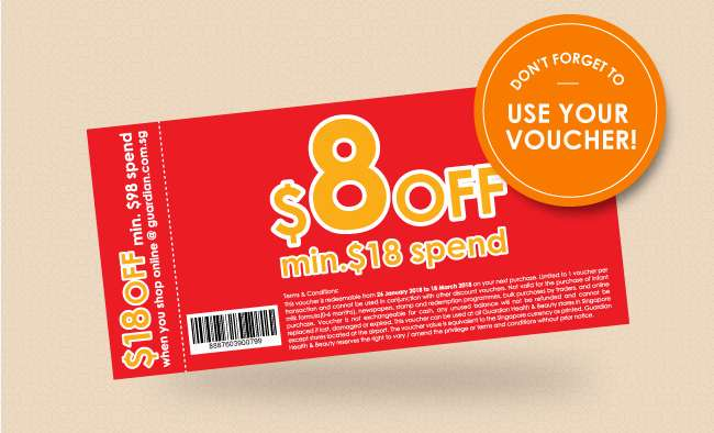 Don't forget to use your voucher!