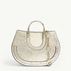 CHLOE Pixie metallic leather bum bag