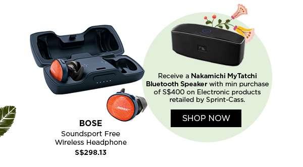 Shop Now: Soundsport Free Wireless Headphone S$298.13
