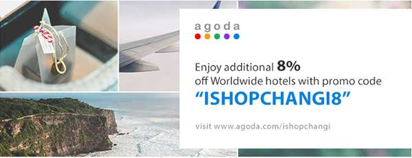 Enjoy Additioanl 8% Off Worldwide Hotels With Promo Code ISHOPCHANGI