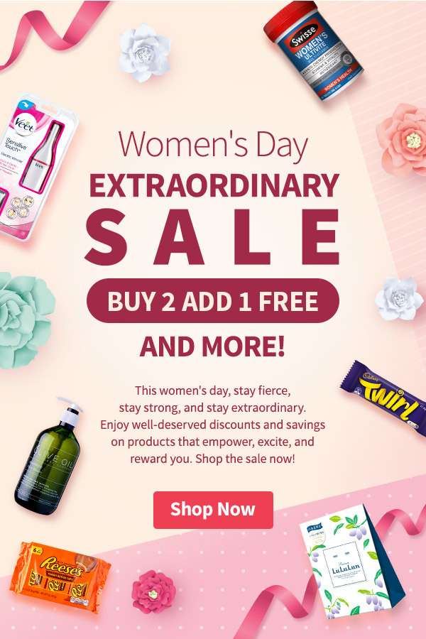 This women's day, stay fierce, stay strong, and stay extraordinary. Enjoy well-deserved discounts and savings on products that empower, excite, and reward you. Shop the sale now!