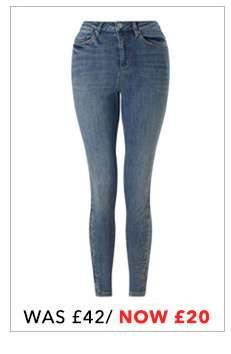 LIZZIE Mid Blue High Waist Super Skinny Jeans